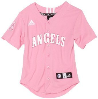MLB Anaheim Angels Toddler Pink Jersey by Adidas