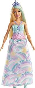 Barbie Dreamtopia - Muñeca Princesa rubia con conjunto de arociris (Mattel FXT14)