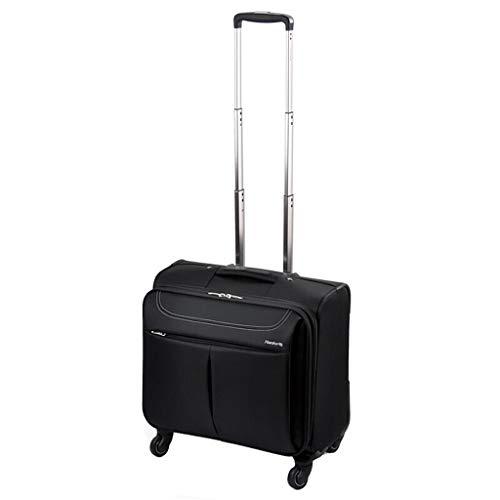 Rolling Overnight Laptop-Tasche, Business Travel Rolling Overnighter Case Trolley für Frauen und Männer - Schwarz (Frauen Rolling Laptop Tasche)