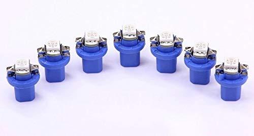 7x blaue high Power B8.5D LED Tachobeleuchtung Umbauset