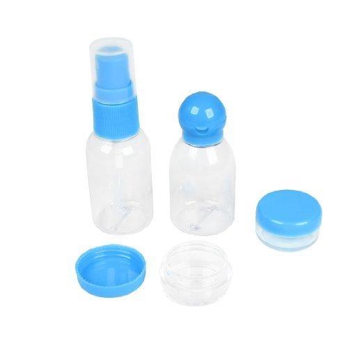 voyage ensemble Cosmétique plastique 30ml Bouteille Pulvérisateur Crème boîtes Spatule 5 en 1