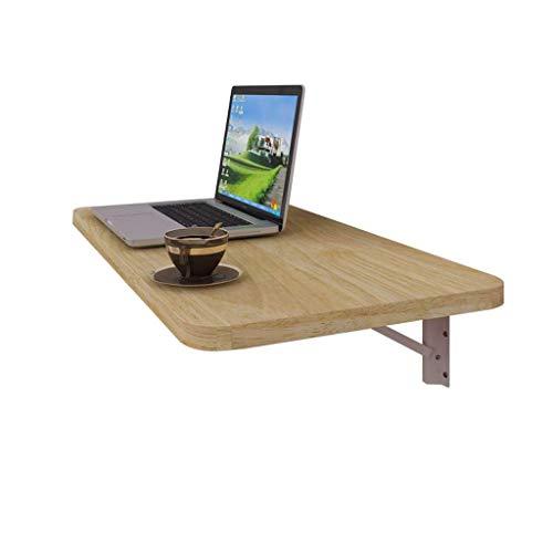 JDH Eckwand Computer-Schreibtisch Faltbarer Tisch Notebook Schreibtisch Platzsparend Einfacher Schreibtisch Wandregal Wandregal Multifunktionales Displayregal (Farbe: Holz Farbe-80Cm), Holzfarbe-6