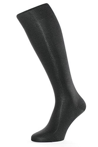 Kniestrümpfe aus 98% Seide schwarz 42-44 ()