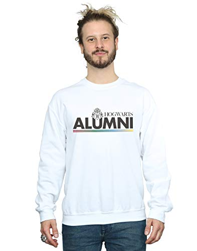 Harry Potter Herren Hogwarts Alumni Sweatshirt Weiß XXXXX-Large