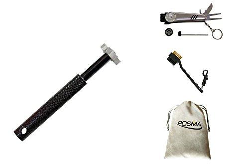 posma ca010b Groove Spitzer Werkzeug mit 6Ausstechformen, vancle Golf Club re-grooving Reinigung Werkzeug 6-tip, Golf Zubehör + 6in 1Golf Multi-Funktion All in One Golfer Werkzeug + 1Stück 2Golf Club Reinigungsbürste mit doppelseitig (Messing & Nylon eingezogen) + Flanell Aufbewahrungstasche/Geschenktasche X 1 Golf Club-reparatur-kits