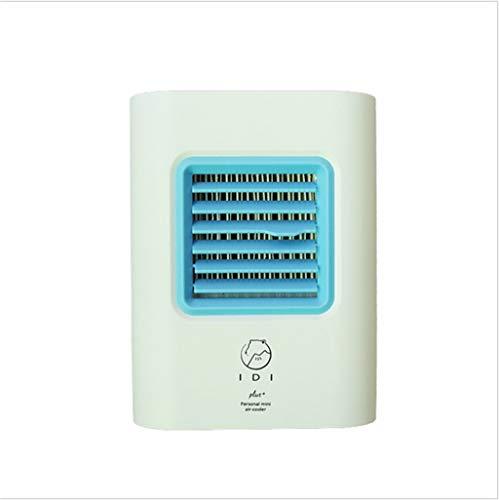 TianranRT♕ Wassergekühlter Luftkühler,Usb-Ladeklimaanlagenlüfter Tragbarer Mini-Luftkühlerlüfter,Blau