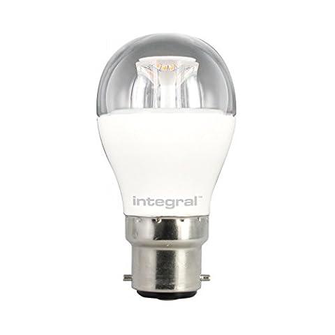 Integral LED Non-Dimmable Clear Mini Globe Bulb (B22 Bayonet 6 W LED 2700 k 470 lm) - Warm White