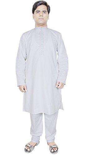 Abbigliamento India Kurta pigiama da uomo per matrimonio Costume indiano Bianco Taglia S