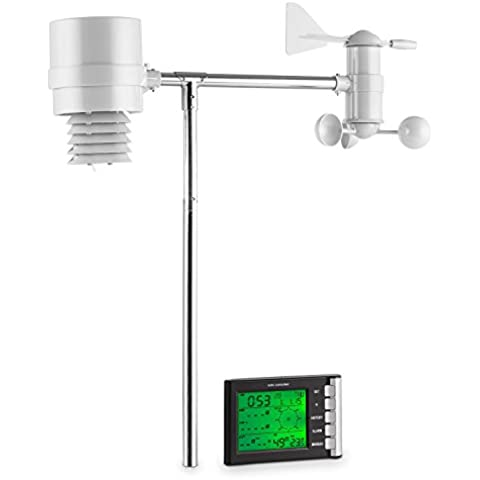 oneConcept Montgolfier Stazione Meteorologica Meteo Wireless con display LCD (4