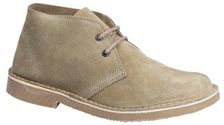 Mens Roamers Suede Ankle Desert Boots Sand 9