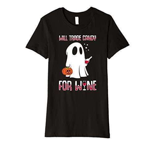 wird Trade Candy für Wein Liebhaber Halloween T-Shirt