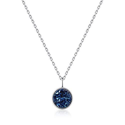 HCC&WHZ S925 Reine Silber Halskette natürliche Cluster Kristall Anhänger High-End-Persönlichkeit Schmuck Europa und den Vereinigten Staaten