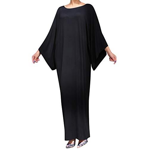 uirend Damen Muslim Maxi Kleid - Bescheiden Kaftan Abra Morgenmäntel Islamisch Abaya Lose Fledermaus Ärmel Party Gelegenheit Dressing Kleid XL = Etikette XXL (Maxi Kleider Bescheiden)