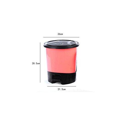 Jia Qing Pedale In Plastica Con Coperchio Camera Da Letto Camera Da Letto Soggiorno Trash Bagno Ufficio Cucina Trash,Yellow Pink