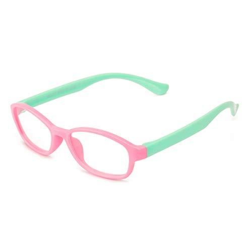 Noradtjcca Gesunde Silikon Kinder Klarglas Mädchen Jungen Flexible Brillenfassungen Kinder Brillenfassungen Optische Brillenfassungen Kind