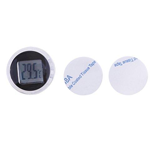 D DOLITY 1 Stück Temperaturanzeige Universal Motorrad Instrumente Wasserdichte Temperaturanzeige - Schwarz