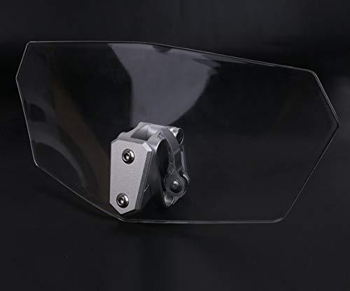 Universale Cavalletto a clip Cupolino spoiler parabrezza prolunga Deflettore per Moto, con Clip