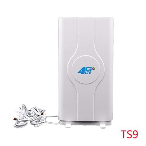 Morza TS9 / SMA / CRC9 Steckverbinder Indoor extrem schnelle 3G 4G 88dBi LTE MIMO-Antenne 700MHz-2600MHz und 2M Kabel