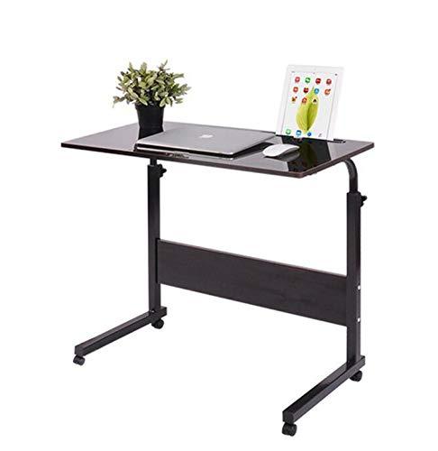 NUO-Z Einstellbare Lap Tisch Tragbare Mobile Laptop Computer Stehen Schreibtisch Warenkorb Tablett Beistelltisch Für Bett Sofa Krankenhaus Pflege Lesen Essen 60 × 40 cm Black (Warenkorb Laptop-schreibtisch)