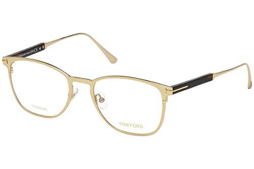 Tom Ford Männer FT5483 Brillen 52-19-145 w/Demo-Raum-Objektiv 028 TF5483 TF 5483 FT 5483 Shiny Rose Gold groß