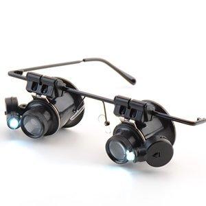 Lupa/ampliadora fotográfica a 20veces LED gafas