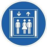 Aufkleber Personenaufzug 20cm Ø Folie