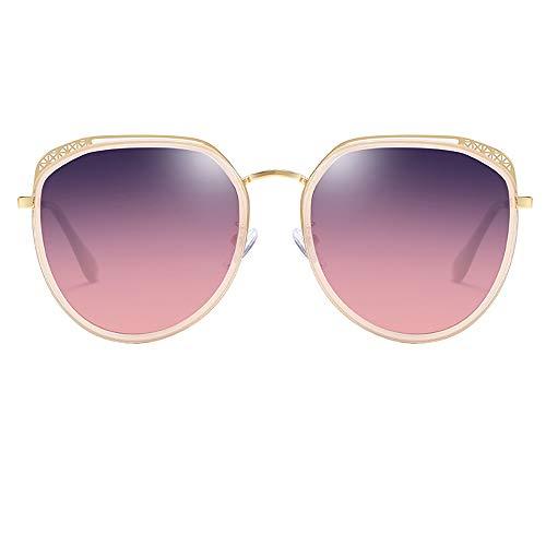 WWHLHL Polarisierte Sonnenbrille, Damen ultraleichte Fashion-Sonnenbrille, Block blaues Licht, Schutz der Augen, geeignet für Urlaub, Fahren (mehrere Farben),C49