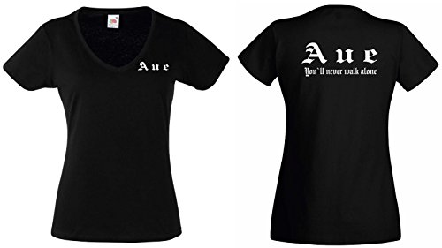 world-of-shirt Damen T-Shirt Aue Ultras Girlie Shirt XS-XXL