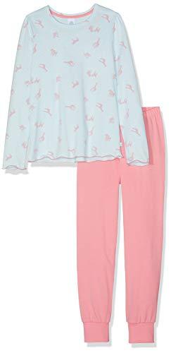 Sanetta Mädchen Zweiteiliger Schlafanzug Pyjama Long Blau (Aqua 50299) 116 -