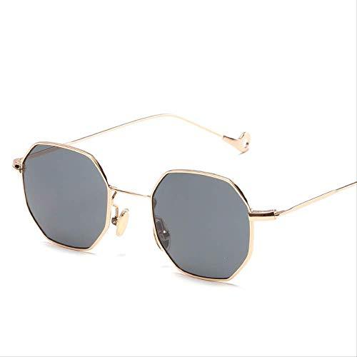 ZHAS Sonnenbrillen Fashion Small Retro Shades Square Sonnenbrillen Herren Blue Lens Yellow Metal Frame Klare Linse Sonnenbrille für Damen Unisex-Sonnenbrillen sind aus High-End-Materialien für La
