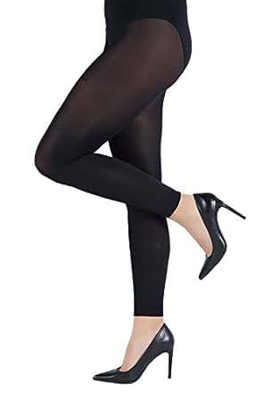 Ulla Popken Femme Grandes tailles 3/4 Longueur Leggings, Classique Pantalon Extensible 70 den Collants noir 46/48 659026 10-44+