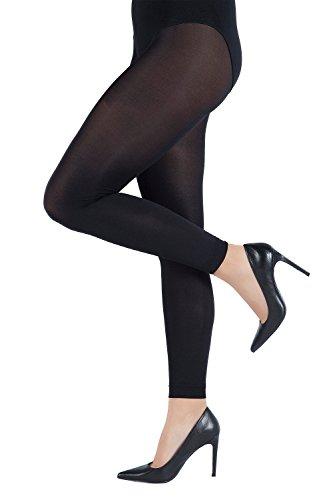 Ulla Popken Femme Grandes tailles Collants Femme , Jambes fuselées - Legging sexy 659026 Noir