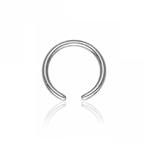 fake piercings lippe eeddoo® 1,2 mm - 6 mm - Stahl - BCR Klemmring - ohne Kugel (Piercing Ball Closure Ring für u.a. Brustwarzen-, Nasen-, Septum- und Ohrpiercings)