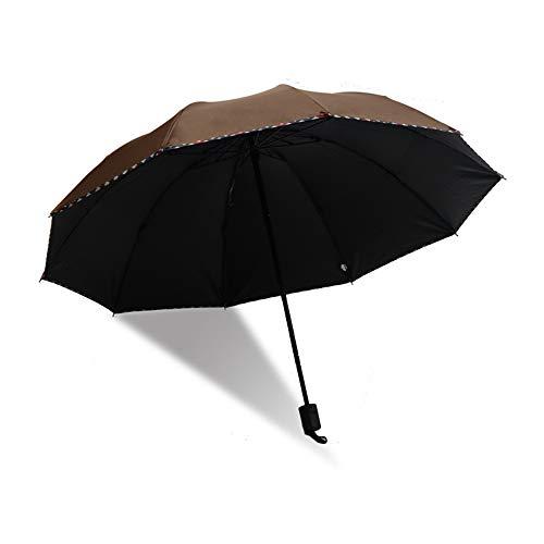 LYJZH Reiseregenschirm - Kompakter windfester Regenschirm - sehr leichtes und faltbares Design Schwarzer Plastikschirm, der dreifachen Regenschirm colour3 95cm faltet