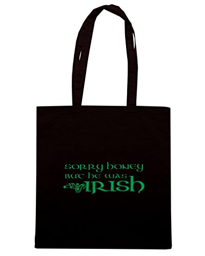 T-Shirtshock - Borsa Shopping T0452 sorry-honey-he-was-irish-tshirt-logo-hr festivita Nero