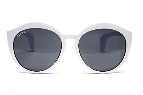 Catania occhiali  ® da sole - nuova collezione - uv400 - occhiali da sole tondi - unisex (con custodia)