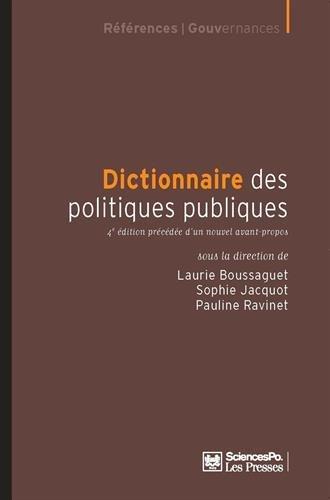 Dictionnaire des politiques publiques 4e edition