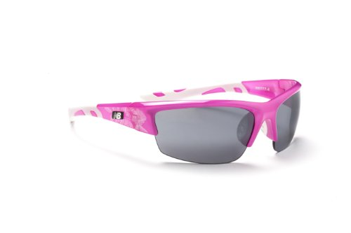 New Balance Sun NB 777-4 Sunglasses, Crystal Pink Floral, Smoke with Silver Flash Mirror