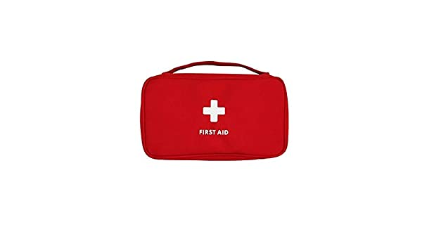 Sungpunet Erste-Hilfe-Tasche leer leichtes Oxford Erste-Hilfe-Kit f/ür roten Notfall Autoreiseb/üro Familie