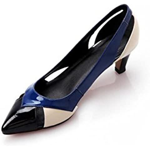 WSS Zapatos de tacón Sandalias de cuero sandalias stiletto punta sandalias del encanto