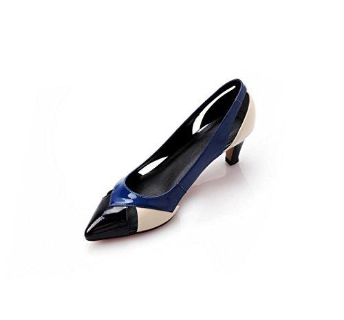 WSS chaussures à talon haut Épeler les sandales talons pointus sandales en cuir sandales sandales Black