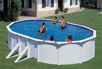 MyPool Ovalbecken-Poolset Feeling 610 x 375 x 120 cm in weiß mit Sandfilteranlage