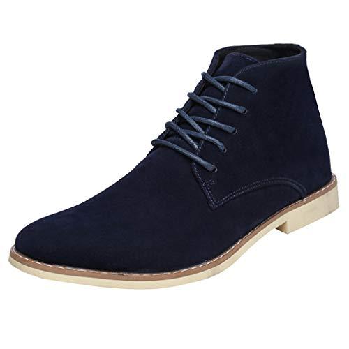DAIFINEY Herren Aurora Mid Boot Klassische Stiefel Martin Stiefel Retro Combat Goth Biker Militärische Armee Schuhe Ankle Booties Größe(Blau/Blue,38.5) Womens Plaza Mid Boot