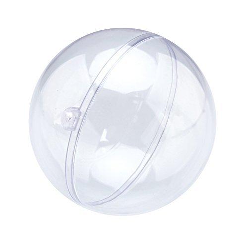 Naice Bola de Navidad Adorno de DIY Transparente Bolas Vacío Rellenable Plástica 70 mm - Paquete de 12 (70mm)