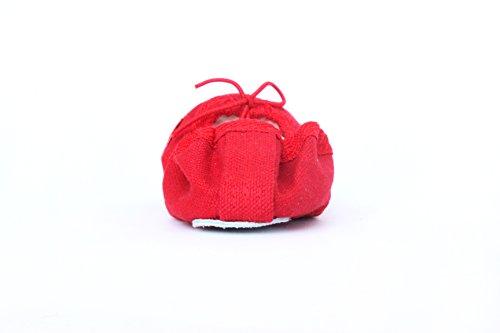 Ballettschuhe Gymnastikschuhe Bodenturnschuhe Rot