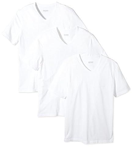 BOSS Hugo Boss Herren 3er Pack T-Shirt Shirt SS VN 3P BM 50236739, Farbe:Weiß;Größe:S