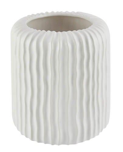 Kaheku Blumentopf Übertopf Kübel Agios weiß modern d17 h16 cm