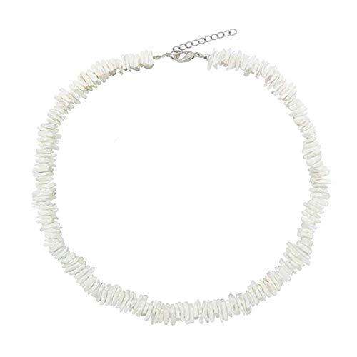 Natürliche Puka Chips Shell Halskette Hawaii Muschel Choker Halskette Strand Berufung Schmuck für Frauen Mädchen