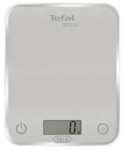 Tefal bc5004 opta vidrio escala 5kg plata división 5g 1g 1kg-over