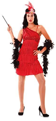 (Enter-Deal-Berlin Damen Kostüm Charleston Tänzerin Größe 42 (M/L) rot)